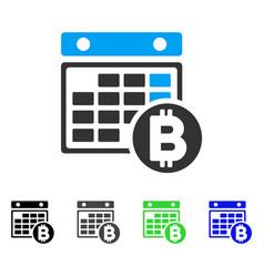 Bitcoin calendar flat icon vector