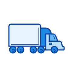 box truck line icon vector image