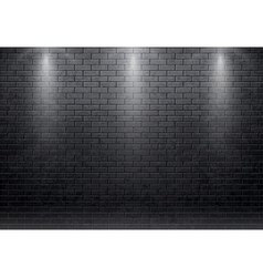 brick wall black background with spot light 10 eps vector image