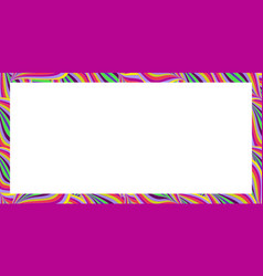bright colorful rectangle border summer pattern vector image