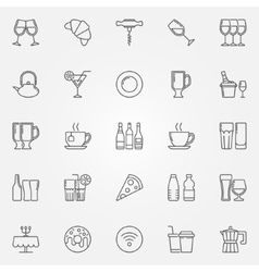 Cafe and bar icons vector image
