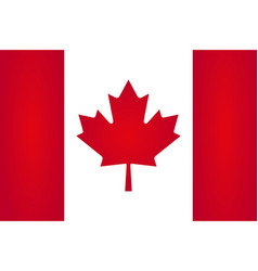 canada flag red and white of a stylish vector image
