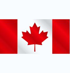 Canadian flag gloss vector
