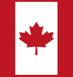 canadian red flag in the background vector image