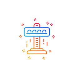 Carousels line icon amusement attraction park vector