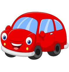Cartoon red car vector image