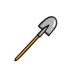 cartoon shovel icon vector image