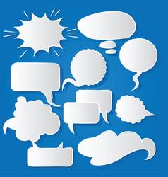 Comic bubble speech balloons speech cartoon 219 vector