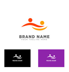 community group logo design template vector image