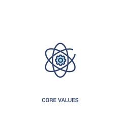 Core values concept 2 colored icon simple line vector