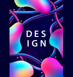 Creative design with 3d plastic shapes vector