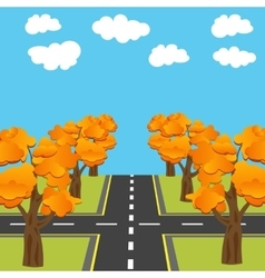 Crossroads equivalent of roads in the future vector
