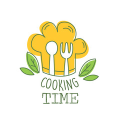Culinary hand drawn logo original design with vector