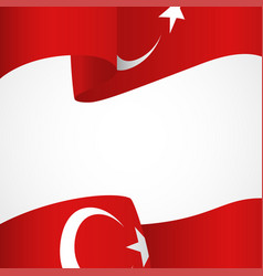 decoration of turkey insignia on white vector image