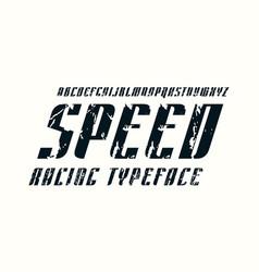 Decorative italic sans serif font vector