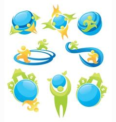 Eco friendly icons vector