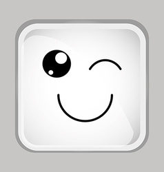 emoticon face vector image