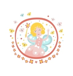 Fairy Godmother Tale Character Girly Sticker In vector