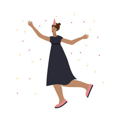 Festive party celebration dance girl vector