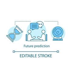 Future prediction concept icon fortune telling vector