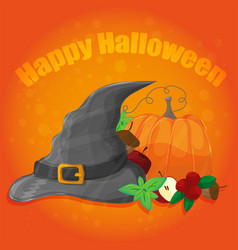 halloween poster banner or background vector image