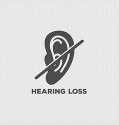 Hearing loss logo icon design vector