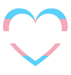 Heart shaped icon official transgender vector