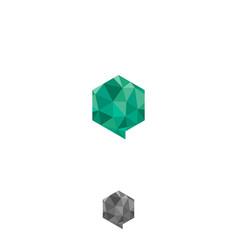 hexagon bubbles chat geometric design concept vector image