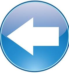 Left icon vector image