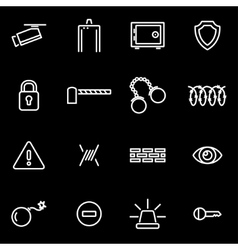 line security icon set vector image