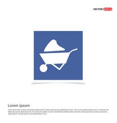 loader icon - blue photo frame vector image