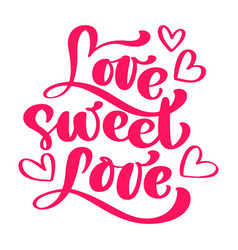 love sweet love elegant greeting card design with vector image