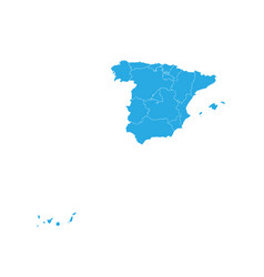 Map of spain high detailed map - spain vector