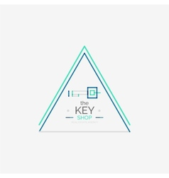 Minimal line design shopping stamps key vector image