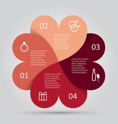 Modern heart infographics options banner vector