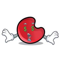 Money eye candy moon mascot cartoon vector