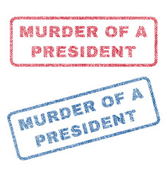 murder of a president textile stamps vector image