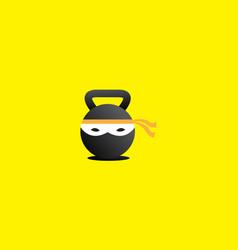 Ninja gym logo design icon symbol vector