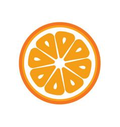 orange fruit slice closeup icon round piece of vector image