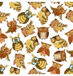 Owl seamless pattern background vector