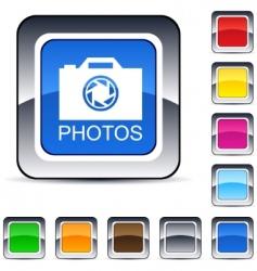 Photos square button vector
