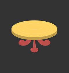 Poker table flat vector
