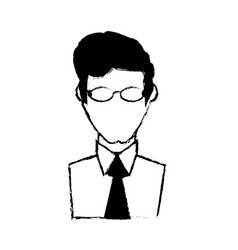 portrait male with glasses image vector image