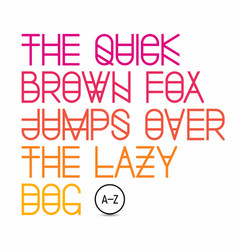 Quick brown fox jumps over the lazy dog vector