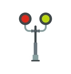 Railway crossing light icon vector