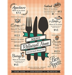Restaurant Menu Design Template Layout vector