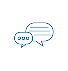 Round chats line icon concept round chats flat vector