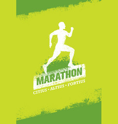 Running event active sport sign vector