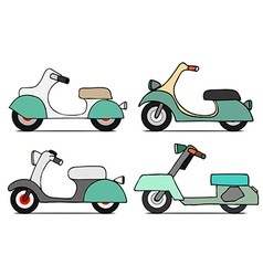 Scooter Icon Set vector