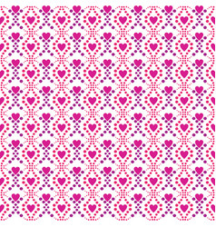 seamless pattern love pink background white vector image